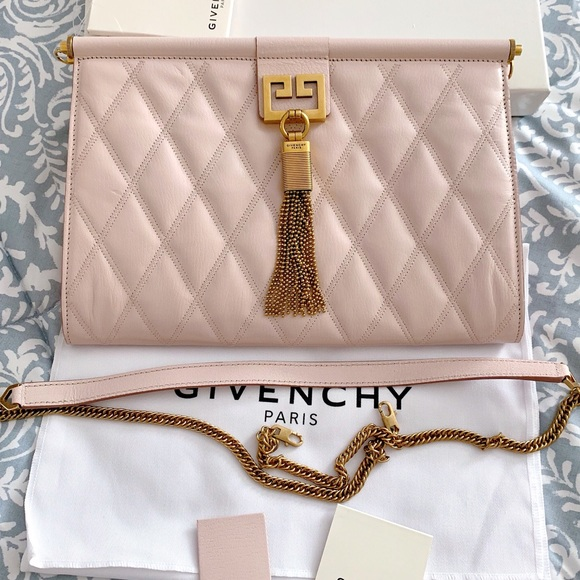 Givenchy Handbags - NWT Givenchy Medium Quilted Convertible Clutch Bag